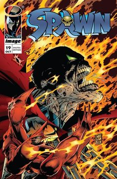 Spawn Image Comics By Todd McFarlane. Created by writer/artist Todd McFarlane, Spawn first appeared in Malibu Sun (May Spawn 1, Spawn Comics, A Comics, Comic Book Characters, Comic Book Heroes, Comic Books, Fictional Characters, Todd Mcfarlane, Shops