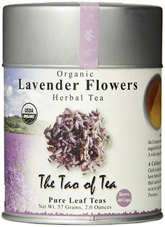 The Tao of Tea, Lavender Herbal Tea, Loose Leaf, Ounce Tin (Packaging May Vary) Organic Herbal Tea, Tea Plant, Best Coffee Maker, Lavender Flowers, Edible Lavender, Lavender Tea, Pure Leaf Tea, Flower Tea, Bright Purple