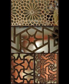 Carved window screens in Islamic Geometry