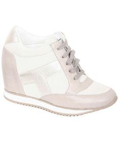 Kelly Wedge High Top Shoe Trainers in Grey