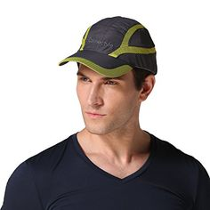 Connectyle Summer Quick Drying Mesh Sun Cap Lightweight Outdoor Sports Hat Breathable Sun Runner Cap, 55 60cm, Dark Grey >>> For more information, visit image link.