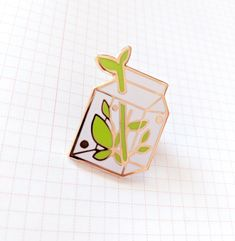 Milk Terrarium Enamel Pin by chirofish on Etsy Jacket Pins, Hard Enamel Pin, Diy Enamel Pins, Cool Pins, Metal Pins, Pin And Patches, Stickers, Pin Badges, Lapel Pins
