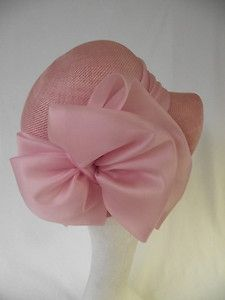 VINTAGE TRIKKI BY EDNA WALLACE PINK HAT LARGE BOW DETAIL TURN UP   DOWN BRIM a109ebd6acc