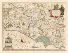"""Italy - Lazio - Map """"Campagna di Roma, olim Latium: Patrimonio Di S. Pietro et Sabina"""" - Amsterdam 1640 ca   P.S.:   Coast line from Civita Vecchia to Gaeta"""
