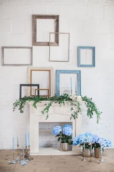 picture frame backdrops - photo by Natalie Bray Photography http://ruffledblog.com/french-provencal-wedding-inspiration-with-geometric-accents