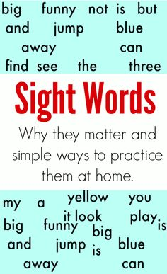 why kids need learn sight word and tips on how to learn sight word at home