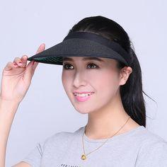 Straw visor hat UV protection wide brim sun hats Straw Visor 5dc3be0eb393