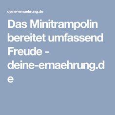 Das Minitrampolin bereitet umfassend Freude - deine-ernaehrung.de