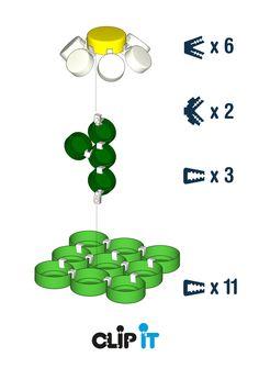 Fleur Clip It en 3D