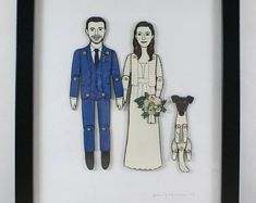 Paper Doll Portraits for Wedding, Engagement, or Anniversary Gifts — Custom Order First Anniversary, Anniversary Gifts, Paper Dolls, Wedding Engagement, Special Gifts, Paper Art, Sketches, Family History, Hdr