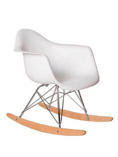 Kids Dock Rocking Chair |  White | Modern Furniture • Brickell Collection