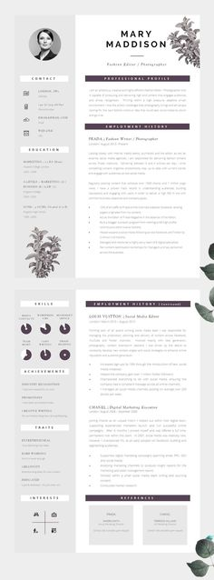 Well Designed CV, Modern yet Professional - Information is clear to read and well structured.