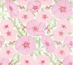 Retro Tapet Pink Poppy