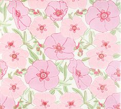 Retro Tapet Pink Poppy