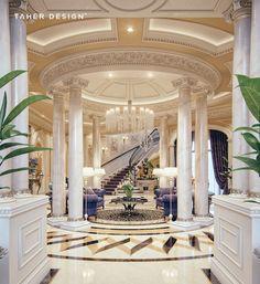 Luxury Mansion Interior Qatar Luxury House and Interiors Mansion Interior, Luxury Homes Interior, Luxury Home Decor, Luxury Apartments, Room Interior, Interior Design Blogs, Interior Ideas, Plafond Design, Design Room
