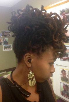 Locs Updo #dreadlocks #dreads #locstyles #naturalhair