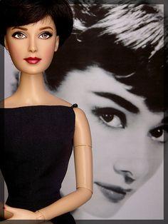 OOAK Madame Alexander doll repaint as Audrey Hepburn