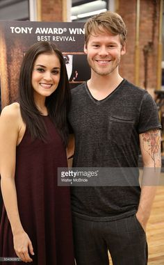 Andrea Gross and Randy Harrison attend the Meet & Greet for the Roundabout Theatre Company's National tour production of 'Cabaret' at Gibney Studios on January 8, 2016 in New York City.