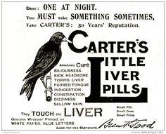 Original - Anzeige / Advertise 1903 : (ENGLISH) CARTER'S LITTLE LIVER PILLS - 120 x 100 mm