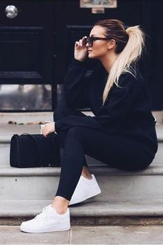 146 cute sporty outfits ideas try this fall – page 1 Legging Outfits, Nike Outfits, Outfits For Teens, Fashion Outfits, School Outfits, Fashion Styles, Summer Outfits, Grunge Outfits, Jordan Outfits