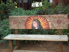 Virgin De La Guadalupe Bench by Renee Tay
