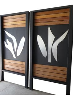 Laser Cut Metal and Timber Fence Art - 2 @ 2m x 1m each Panel