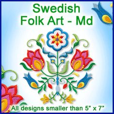A Swedish Folk Art Design Pack - Md design (X11727) from www.Emblibrary.com