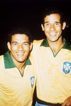 Garrincha e Brito em 1969.