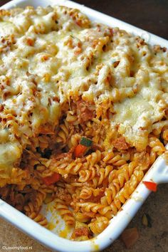 Pasta Dishes Baked 23 Ideas For 2019 Oven Recipes, Pasta Recipes, Cooking Recipes, Fusilli, Food Porn, Meat Lovers, Recipes From Heaven, How To Cook Pasta, Pasta Dishes