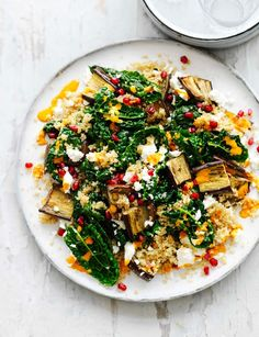 Your summer just got feta - tuck into this feta, aubergine, pomegranate and harissa salad. Nutritious and delicious - this salad is the perfect lunchtime filler.
