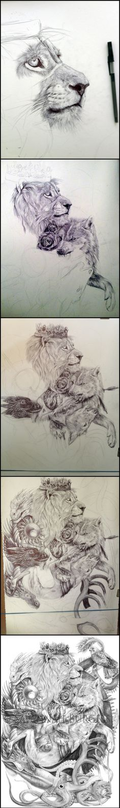 A massive Game of Thrones themed drawing by Artist Savannah Burgess
