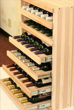 Wine Rack Design, Wine Cellar Design, Wine Cellar Innovations, Home Wine Cellars, Wood Wine Racks, Diy Wine Racks, Build A Wine Rack, Kitchen Wine Racks, Kitchen Pantry