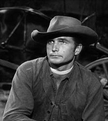 """Eric Fleming,as trail boss Gil Favor in the series """" Rawhide"""" with Rowdy Yates, better known as the one and only Clint Eastwood."""