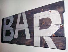 Pallet BAR Sign