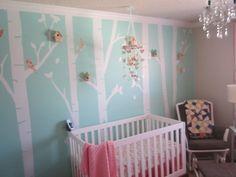 Bird theme nursery girl boy rooms ideas for 2019 Bird Theme Nursery, Nursery Themes, Nursery Ideas, Room Ideas, Bird Houses Painted, Big Girl Rooms, Boy Rooms, Project Nursery, House Painting