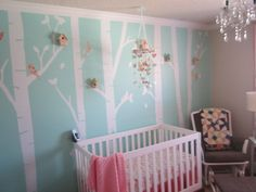 Like it, like these birch tree decals... but our walls i'm thinking will be gray