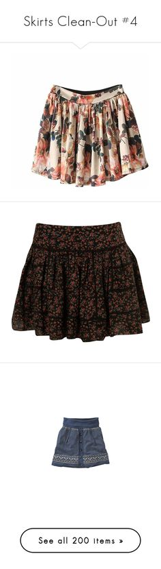 """Skirts Clean-Out #4"" by nevillerocks37 ❤ liked on Polyvore featuring skirts, bottoms, indressme, faldas, patterned skirts, flower print skirt, vintage skirts, vintage floral skirt, floral print skirt and mini skirts"