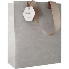KAMI Grey Recycled Shopping Bag ($29) ❤ liked on Polyvore featuring bags, handbags, tote bags, shopper handbags, shopper tote, grey handbags, water resistant tote and shopper purse