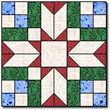 """Blackford's Beauty Quilt Block Pattern and Instructions 12"""" block This same block is in Bonnie Hunter - Quiltville.com pattern Jared Takes a Wife; where she sets the 12"""" block with sashing. I used her pattern in a quilt for a wedding!"""