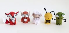 Wine Cork Crafts - set of five animals - mollymoo.ie – Wine Cork Crafts: Pocket Pals These are adorable, but I'm not sure I'm this - Crafts For Teens, Diy For Kids, Diy And Crafts, Craft Projects, Crafts For Kids, Fun Crafts, Sheep Crafts, Craft Ideas, Craft Tutorials