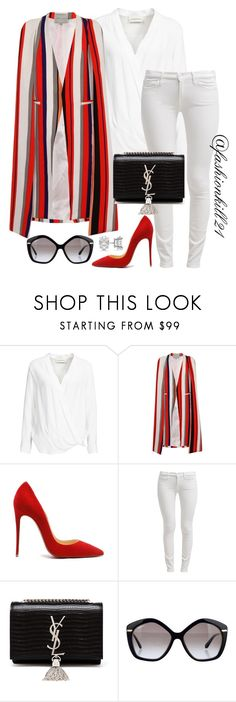 """Fly"" by fashionkill21 ❤ liked on Polyvore featuring By Malene Birger, Topshop, 7 For All Mankind, Yves Saint Laurent, Salvatore Ferragamo and Allurez"