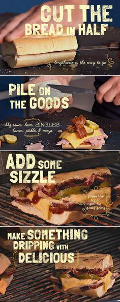 The Barbe-Cuban Ham Sandwich recipe #cheese