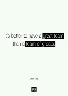 Teamwork...
