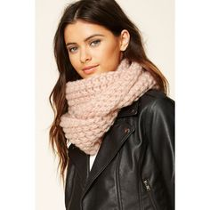 Forever21 Open-Knit Infinity Scarf ($9.90) ❤ liked on Polyvore featuring accessories, scarves, pink, loop scarves, tube scarf, tube scarves, infinity scarf and pink scarves