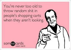 See I said it wasn't me that put it the shopping cart.