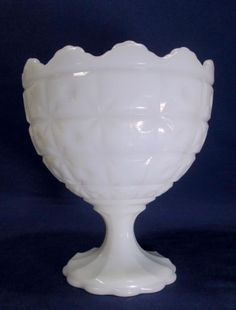 Vintage-Napco-Milk-Glass-Planter-Compote-Candy-Dish-Footed-Bowl-Shabby-Chic