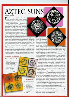 Art teacher's lessons published in national magazine