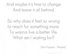 """Maybe"" by Sick Puppies"