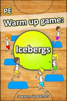 Icebergs 1 of 5 awesome PE warm up games to try with your grade 36 students in your next sport lesson Physical Education Activities, Elementary Physical Education, Pe Activities, Health Education, Science Education, Gym Games For Kids, Exercise For Kids, Fun Games, Pe Games Elementary