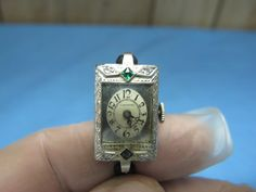 Square LeCoultre women's dress watch, 19.5 karat white gold, exploding dial, mid-1920s.